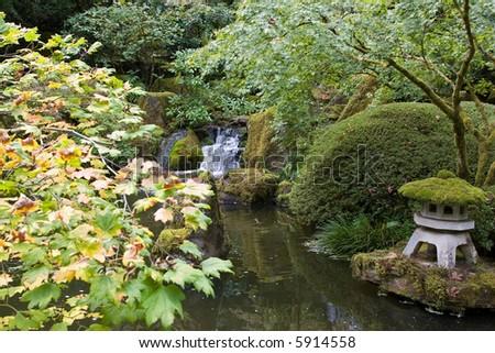 Serenity Garden - stock photo