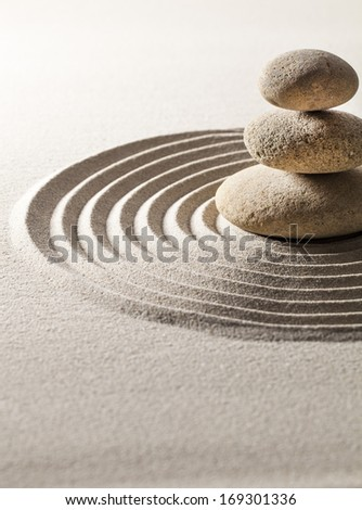 serenity still-life with zen pebbles - stock photo