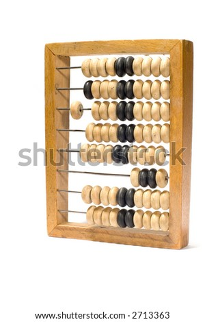 series object on white: isolated abacus - stock photo