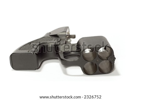 series object on white: isolated - weapon - revolver - stock photo