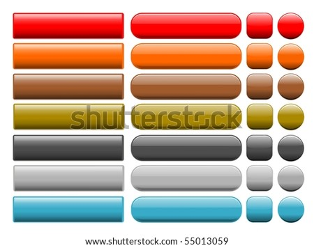 series of buttons - stock photo