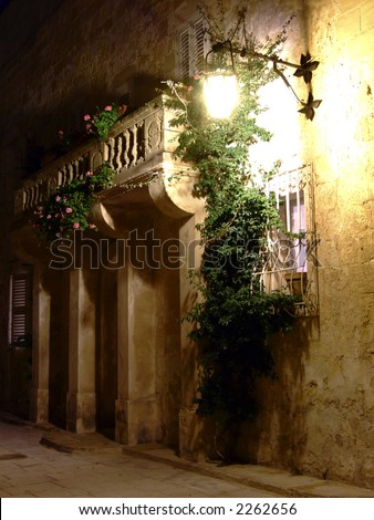Series of photos taken in the medieval 3000yr old city of Mdina, Malta, by night.