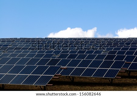 series of photovoltaic panels for renewable energy