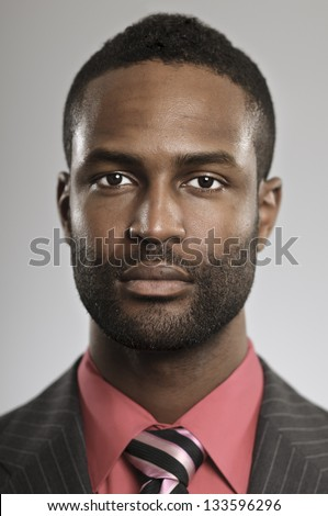 Serious African American Businessman - stock photo