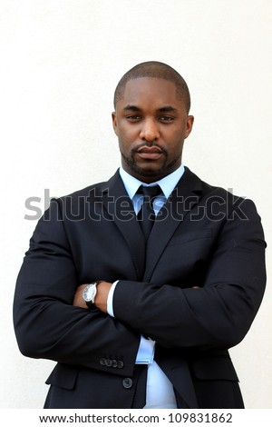 Serious, Attractive, Young Professional African American Businessman - stock photo