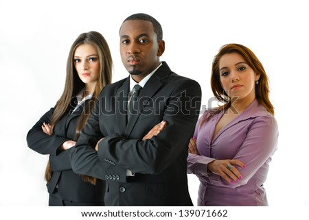 Serious Business Team - stock photo