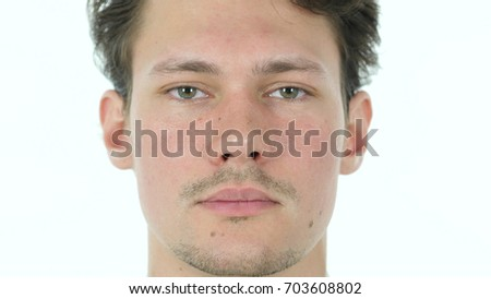 Serious Businessman Looking in Camera