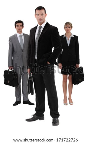 Serious businesspeople - stock photo