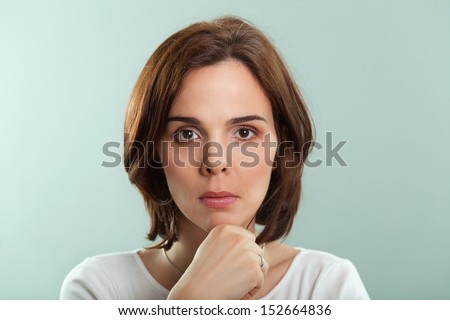 Serious woman - stock photo