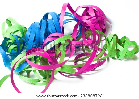 Serpentine colors on white background - stock photo
