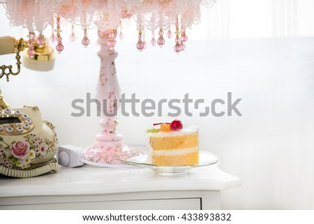 serve cake on beautiful table