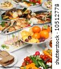 Served banquet table (86) - stock photo