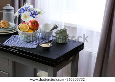 kitchen table close up closeup open furniture modern kitchen stock photo 132