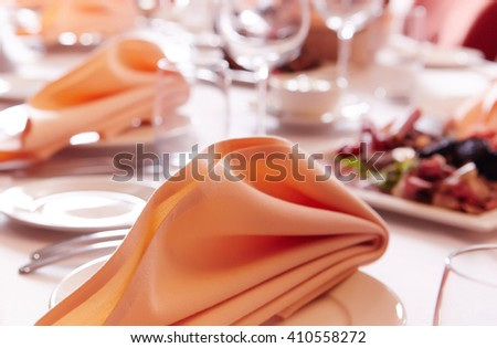 Served table for celebrating.  - stock photo