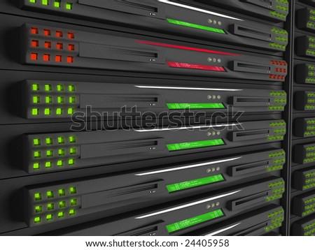 Server malfunction - stock photo