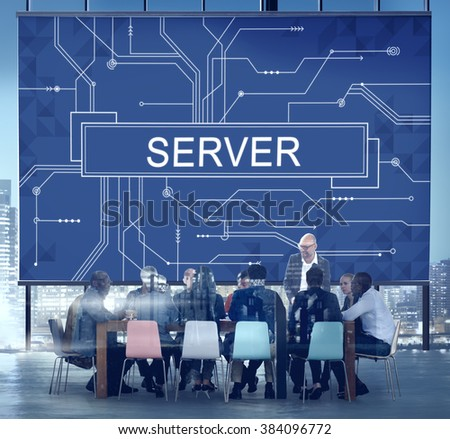 Server Online Technology Storage Software Concept - stock photo