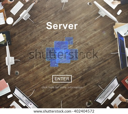Server Online Technology Storage Software Concept