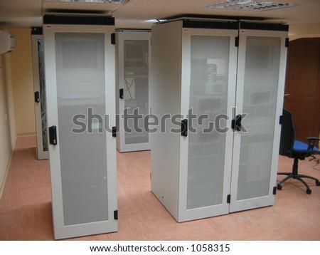 Server room - stock photo