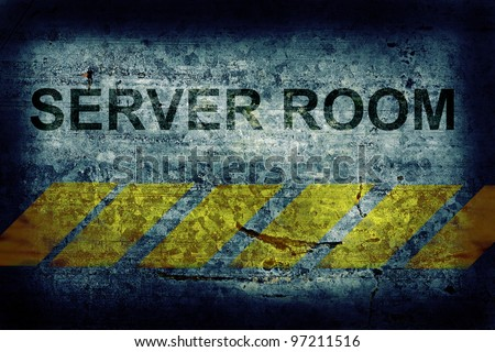 Server room grunge background - stock photo