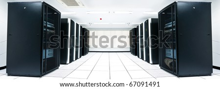 server room with black servers