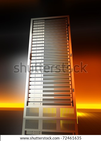 Server tower. 3D rendered Illustration. - stock photo