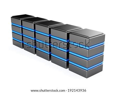 Servers - stock photo