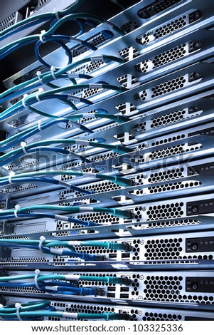servers rack - stock photo