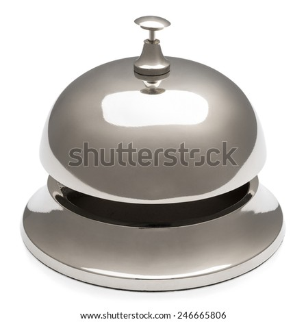 Service bell isolated on white background.     - stock photo