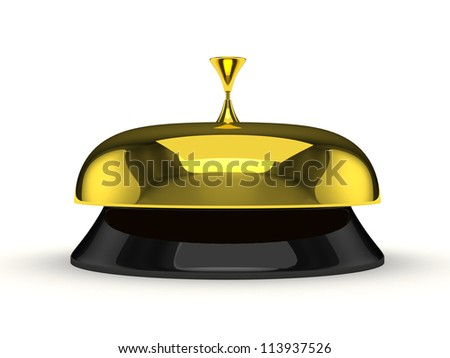 Service bell isolated on white. Computer generated - stock photo