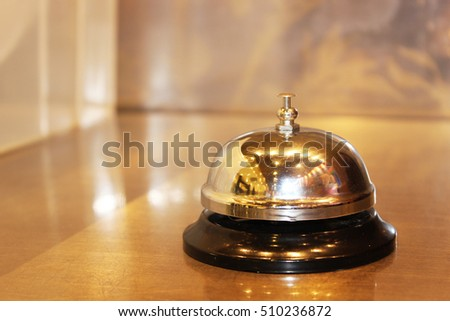 Service bell on the table