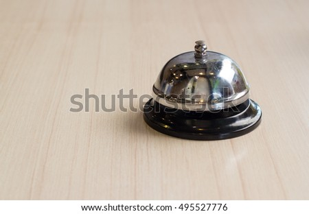 service bell on wooden table in japan restaurant