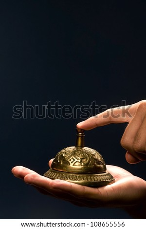 Service Bell With Room For Your Type. - stock photo