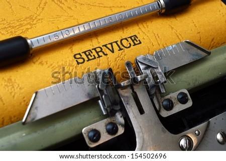 Service concept - stock photo