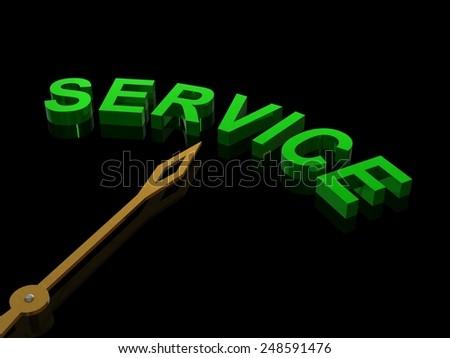 Service concept, 3d render - stock photo