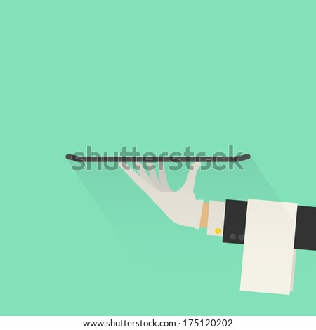 Service Concept. Flat Style. Raster Version - stock photo