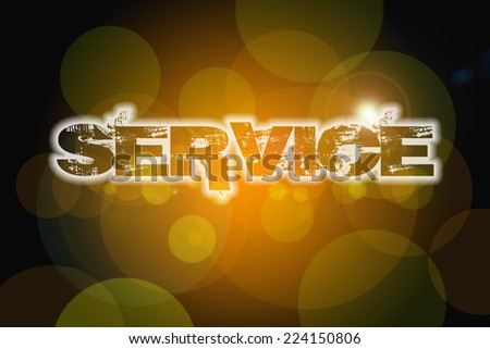 Service Concept text on background - stock photo