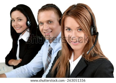 Service, Customer Service Representative, Call Center. - stock photo