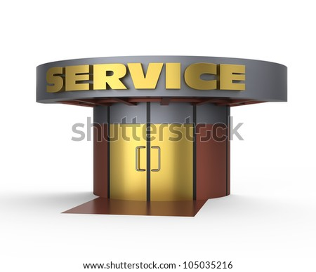 Service house concept - stock photo