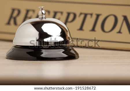 Service retro bell at the hotel - stock photo