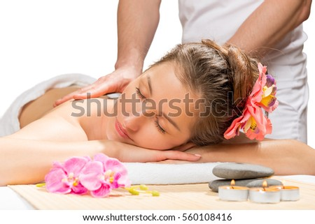 Services of a professional massage in the spa complex