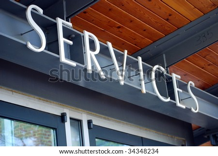 Services Sign - stock photo