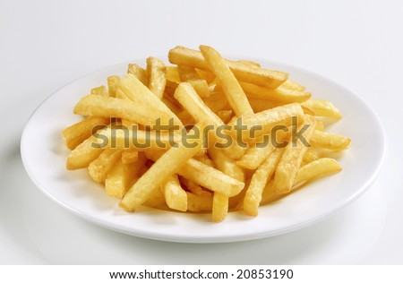 Serving of French fries - stock photo