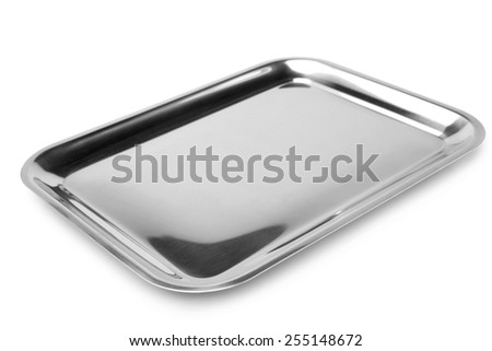 Serving tray on white background - stock photo