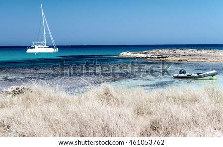 Ses Illetes Beach in Formentera, Spain.