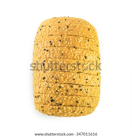 Sesame Bread Isolated on White Background