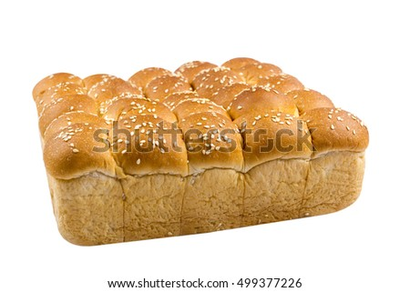 sesame loaf bread on isolated background