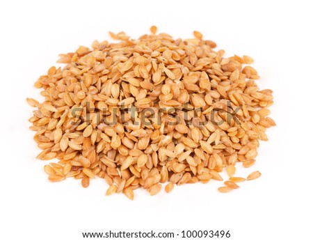 Sesame seeds on a white background