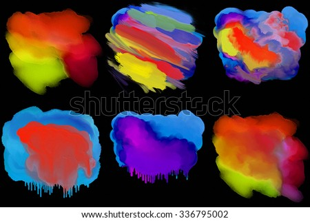 set abstract art background - stock photo