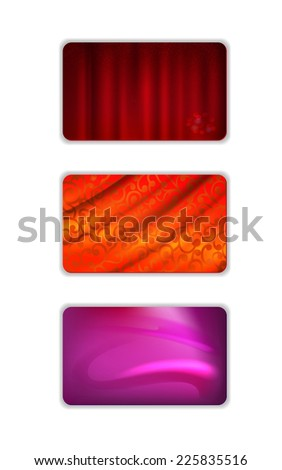 Set abstract drapery background isolated on white - stock photo