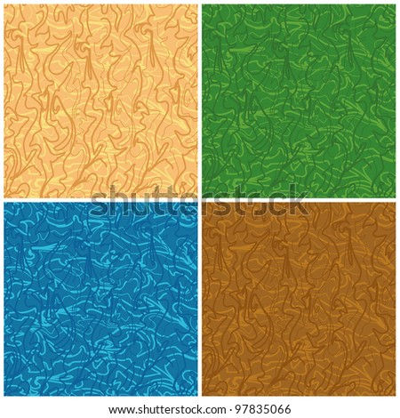Set abstract seamless backgrounds of the curves